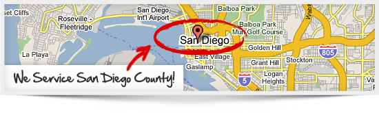 We Service San Diego County